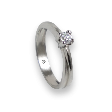 Inel Solitaire din Aur alb 18k - diamant 0.17-0.20-0.23 ct - model Salvatore