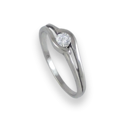 Inel Solitaire din aur alb, diamante 0.17 - 0.23 ct - model Battista