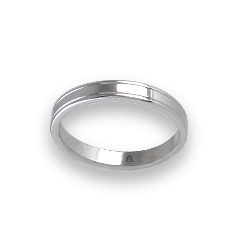 Unisex ring in white gold 18 ct extra polished model ab0349lew