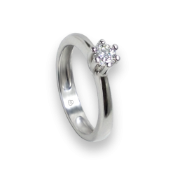 Inel Solitaire din Aur alb - diamante 0.50 ct - model Romeo